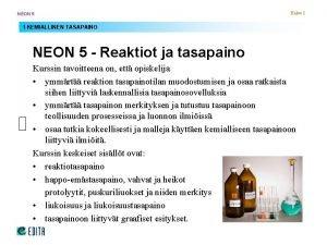 NEON 5 Kalvo 1 1 KEMIALLINEN TASAPAINO NEON