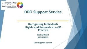 DPO Support Service Recognising Individuals Rights and Requests