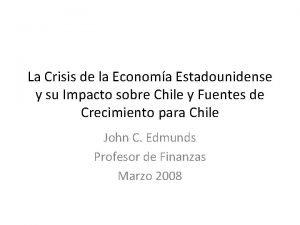 La Crisis de la Economa Estadounidense y su