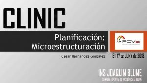 Planificacin Microestructuracin Csar Hernndez Gonzlez Planificacin Vs Periodizacin