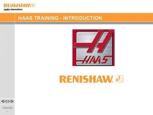 apply innovation HAAS TRAINING INTRODUCTION 1242020 1 apply