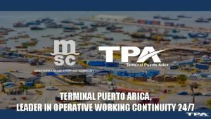 TERMINAL PUERTO ARICA LEADER IN OPERATIVE WORKING CONTINUITY