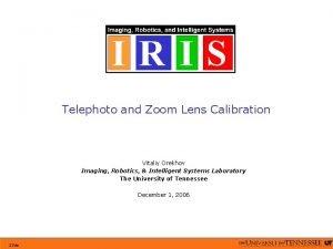 Telephoto and Zoom Lens Calibration Vitaliy Orekhov Imaging