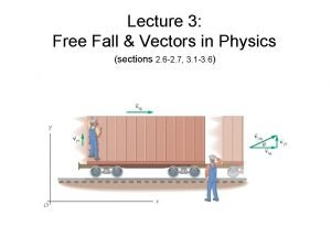 Lecture 3 Free Fall Vectors in Physics sections