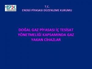 T C ENERJ PYASASI DZENLEME KURUMU DOAL GAZ