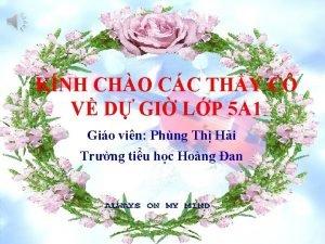 KNH CHO CC THY C V D GI