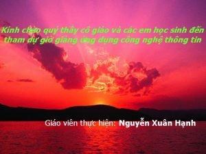 Knh cho qu thy c gio v cc