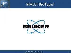 MALDI Bio Typer Arintha Biotech 201006 1 MALDI