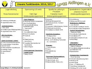 Unsere Funktionre 20162017 Jugendleitung Ronja Nonnenmacher Sponsoring Events