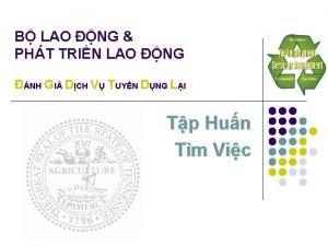 B LAO NG PHT TRIN LAO NG NH