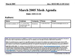 March 2005 doc IEEE 802 11 05113 r