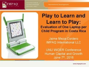Play to Learn and Learn to Play Evaluation