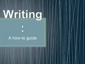 Writing A howto guide Literary Analysis Writing Format
