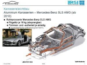 Karosserieleichtbau Aluminium Karosserien MercedesBenz SLS AMG ab 2010