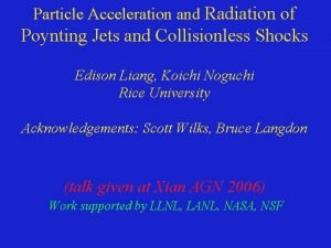Particle Acceleration and Radiation of Poynting Jets and