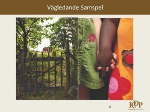 Vgledande Samspel 1 Bakgrund till programmet Internationellt ntverk