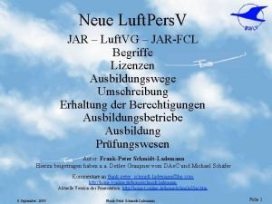 Neue Luft Pers V JAR Luft VG JAR
