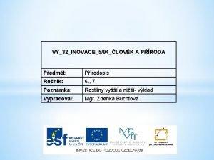 VY32INOVACE504LOVK A PRODA Pedmt Prodopis Ronk 6 7