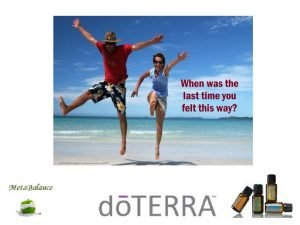 Lifelong Vitality with dTERRA Do we need to