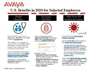 U S Benefits in 2020 for Salaried Employees