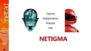 Yazlm Gelitirmenin Robotik Hali NETIGMA Yazlm Gelitirmede Sorunlar
