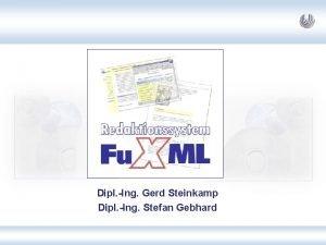Dipl Ing Gerd Steinkamp Dipl Ing Stefan Gebhard