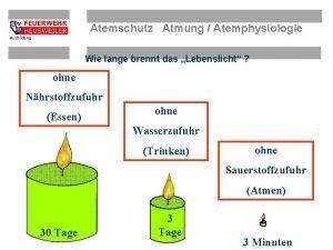 Atemschutz Atmung Atemphysiologie Wie lange brennt das Lebenslicht