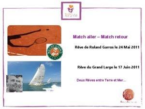 Match aller Match retour Rve de Roland Garros