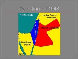 Palestina tot 1948 Palestina na 1918 Na 1918