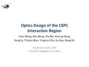 Optics Design of the CEPC Interaction Region Yiwei