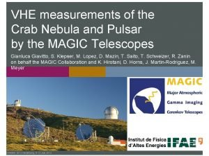 VHE measurements of the Crab Nebula and Pulsar