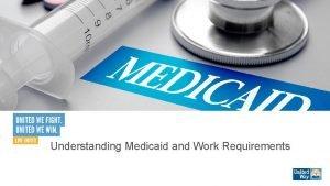 Understanding Medicaid and Work Requirements Todays Agenda Understanding