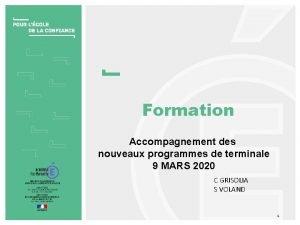 Formation Accompagnement des nouveaux programmes de terminale 9