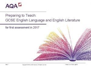 Preparing to Teach GCSE English Language and English