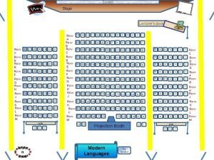 Screen Stage Lecturers desk Row C Row D