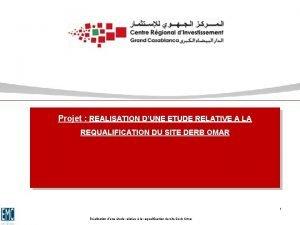 Projet REALISATION DUNE ETUDE RELATIVE A LA REQUALIFICATION