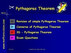 Pythagoras Theorem www mathsrevision com Nat 5 Revision