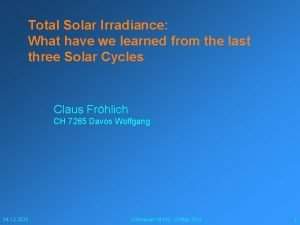 Total Solar Irradiance What have we learned from