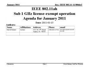 January 2011 doc IEEE 802 11 110066 r