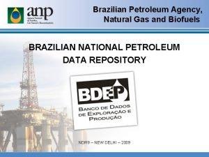 Brazilian Petroleum Agency Natural Gas and Biofuels BRAZILIAN
