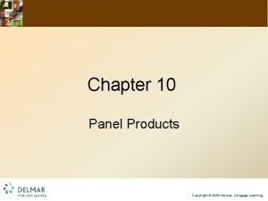 Chapter 10 Panel Products Copyright 2009 Delmar Cengage