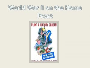 World War II on the Home Front During