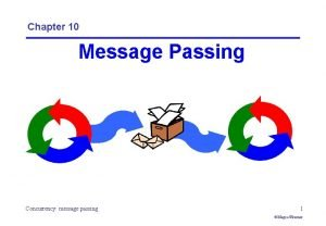 Chapter 10 Message Passing Concurrency message passing 1