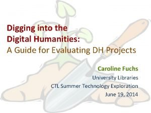 Digging into the Digital Humanities A Guide for