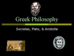 Greek Philosophy Socrates Plato Aristotle Philosophy love of