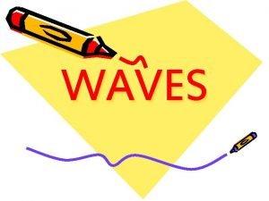 WAVES WAVES waves waves waves waves 1 General