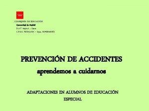 CONSEJERA DE EDUCACIN Comunidad de Madrid D A