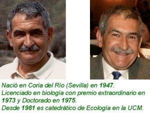 Naci en Coria del Ro Sevilla en 1947