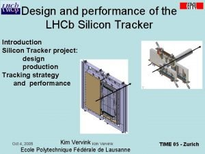Design and performance of the LHCb Silicon Tracker