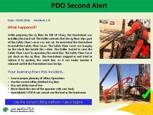 PDO Second Alert Date 29 09 2016 Incident